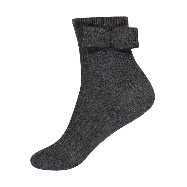 JRP Pointelle Midcalf Sock with Bow