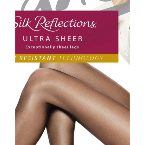 Hanes Silk Reflections Ultra Sheer Control Top Pantyhose with Run Resistant Technology