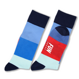 Fun Socks Color Block Print