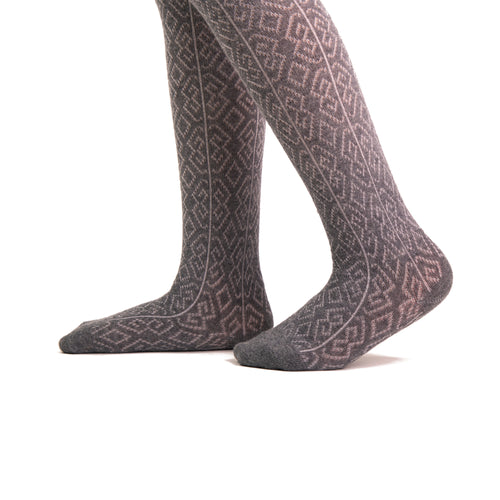 Gold Stone Cotton Diamond Tights