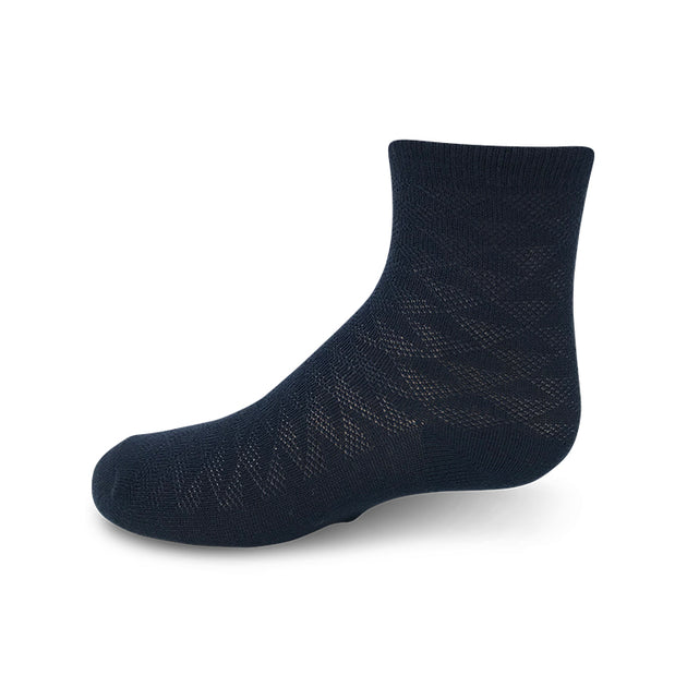 Zubii Triangle Textured Anklet Sock