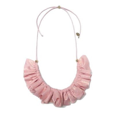 Cherie Metallic Gathered Collar Necklace