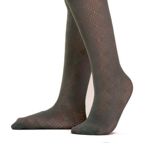 Gold Stone Lace Diamond Tights