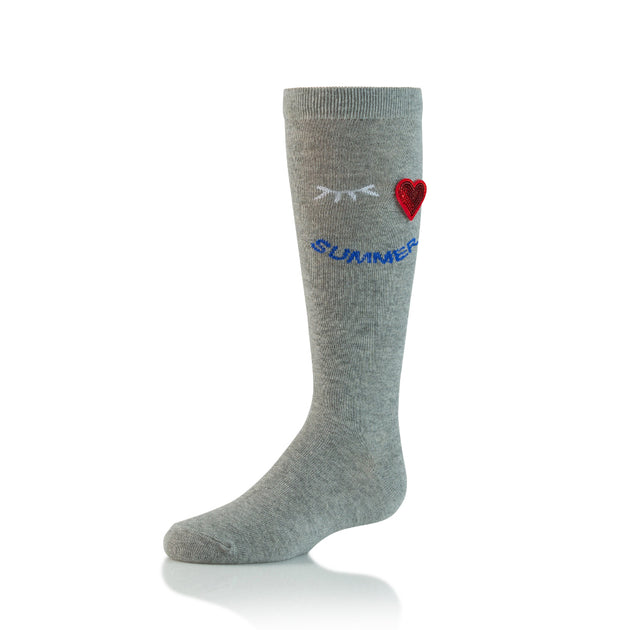 Zubii Heart Wink Summer Knee High Sock