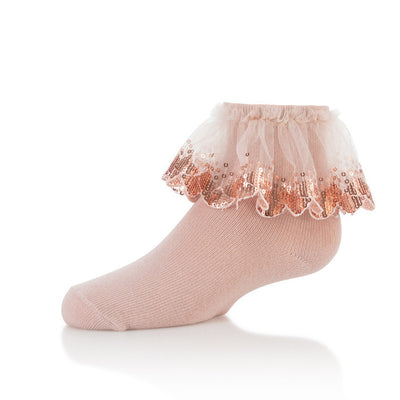 Zubii Sequin Lace Ankle Sock