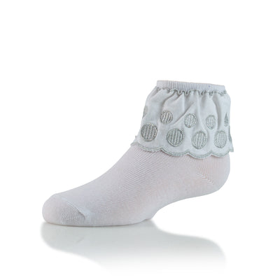 Zubii Embroidered Circle Ankle Sock