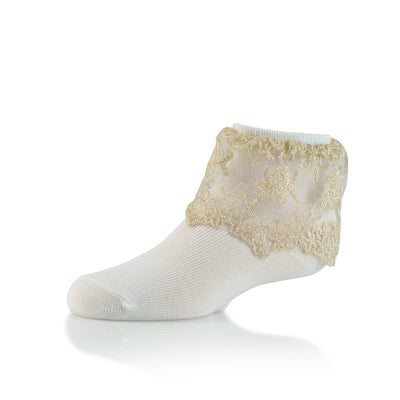 Zubii Gold Lace Ankle Sock