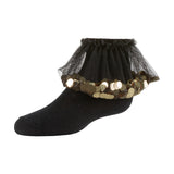 Zubii Flying Sequined Tulle Anklet Sock