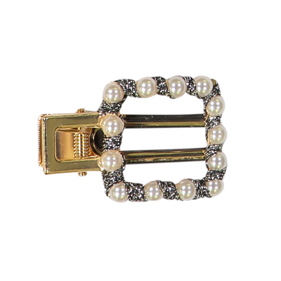 DaCée Designs Velvet Square Pearl Pinch Clip