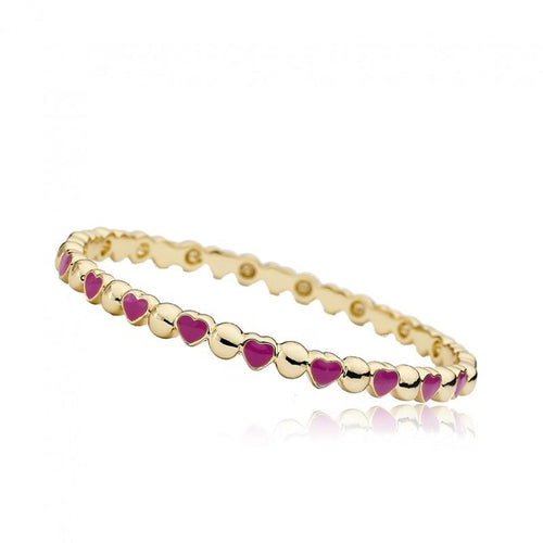 Twin Stars Stackable Stunners Alternating Hearts Thin Bangle