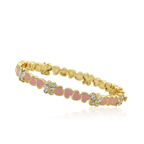Twin Stars Heart of Jewels Heart & Buttefly Bangle