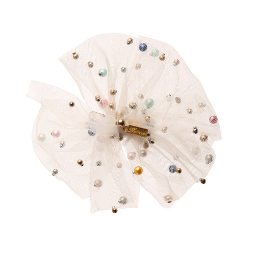Heirlooms NY Tulle Bow Clip with Pearls