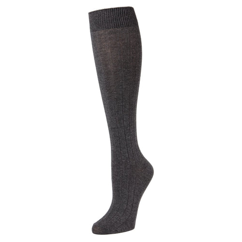 Round The Clock Ribbed Knee High Sock - C1038