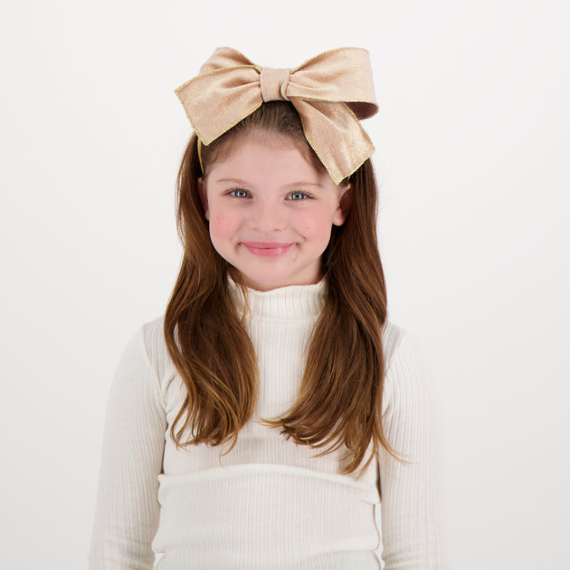 DaCée Designs Metallic Velvet Bow Headband
