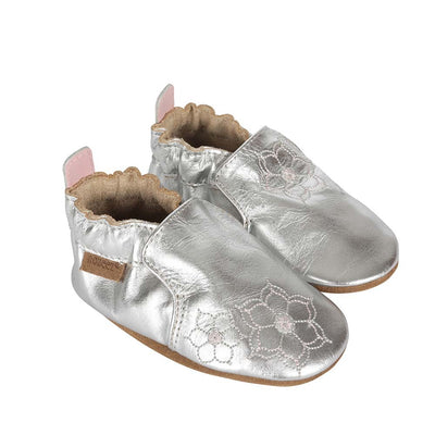 Robeez Metallic Flower Shoe