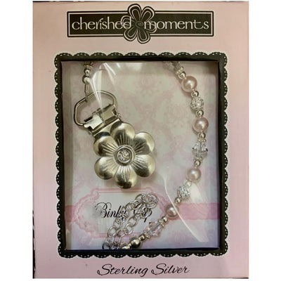 Cherished Moments Sterling Silver Pacifier Clips