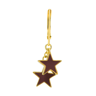 Tilyon Jewelry Double Star Earrings