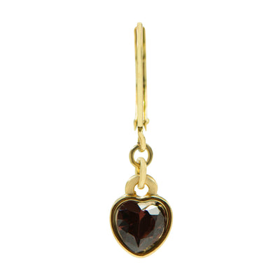 Tilyon Jewelry Crystal Heart Earrings