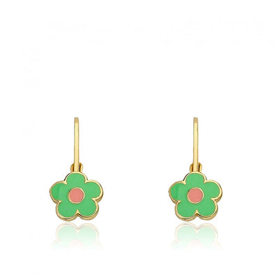 Twin Stars Frosted Flowers Flower Leverback Earring