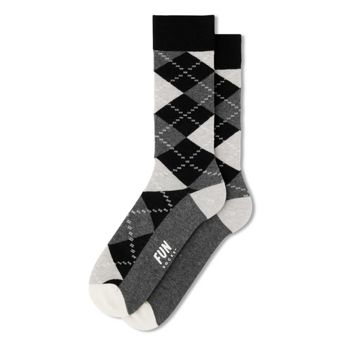 Fun Socks Argyle Print