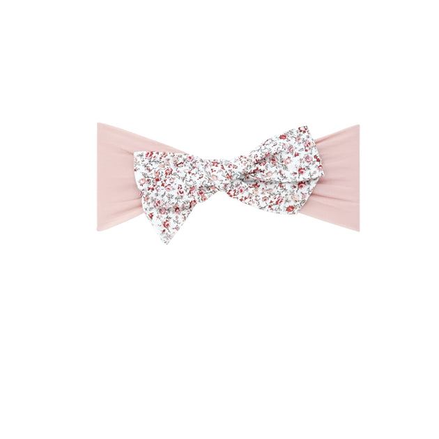 Bandeau Vintage Floral Bow Baby Headband