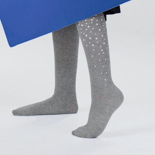 Blinq Collection Glass Beads Knee High Sock