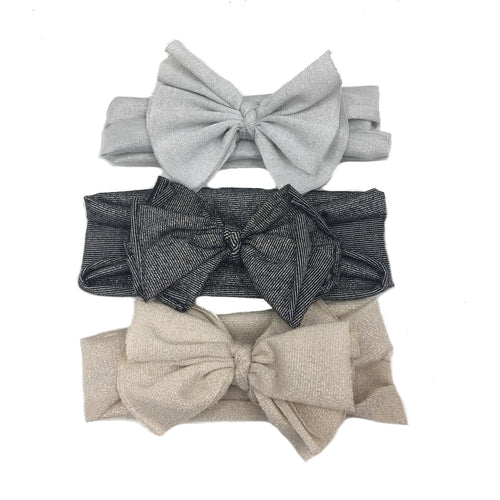 Mucci Metallic Bow Baby Headband