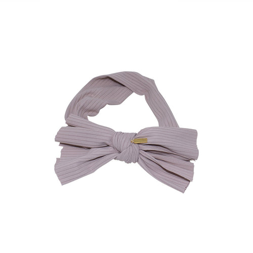 Heirlooms NY Ribbed Classic Mini Bow Baby Headband