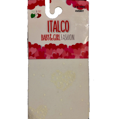 Italco Lace Heart Tights