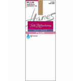 Hanes Silk Reflections Plus Knee Highs Enhanced Toe