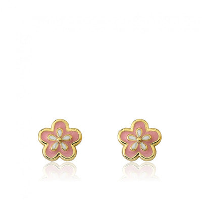Twin Stars Frosted Flowers Flower Stud Earring