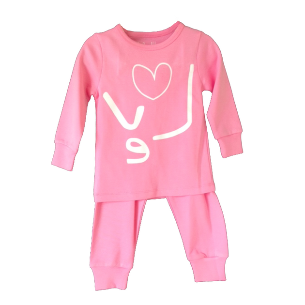 Hide N Seek Love 2 Piece Pajamas