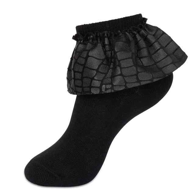 JRP Leather Lace Anklet Sock