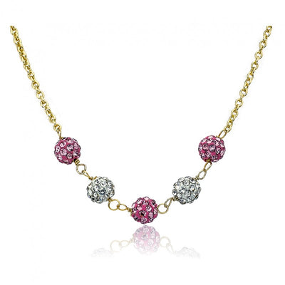 Twin Stars Glitz Blitz Small Crystal Balls Necklace