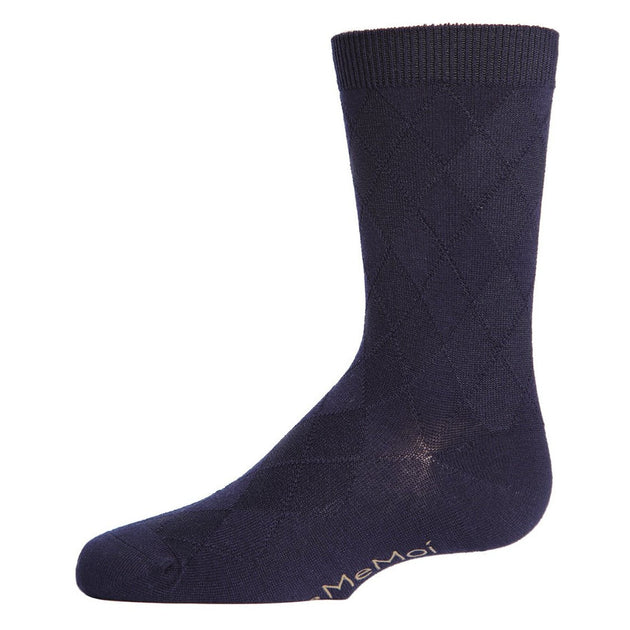 Memoi All Over Argyle Socks - MK 143