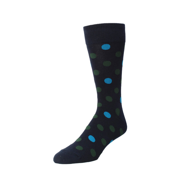 Memoi Boy's Two Tone Dot Crew Sock - MK 175