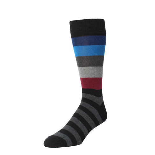 Memoi Men's Bold Stripes Crew Sock - MMF 000020
