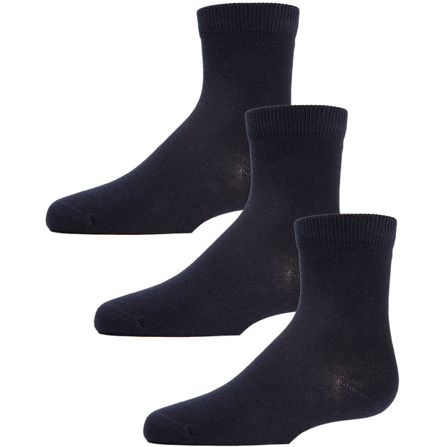 Memoi Kids Crew Cut 3 Pack Socks - MK 556