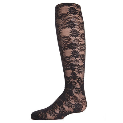 Memoi Sheer Flower Tights - MK 716