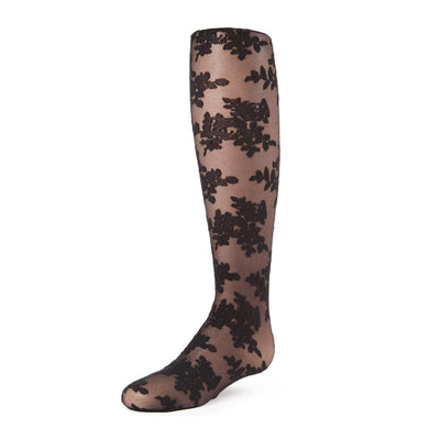 Memoi Fancy Floral Sheer Tights - MK 804