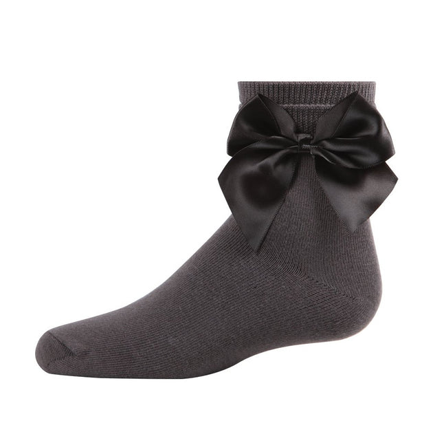 Memoi Side Bow Anklet Sock - MKF 6032