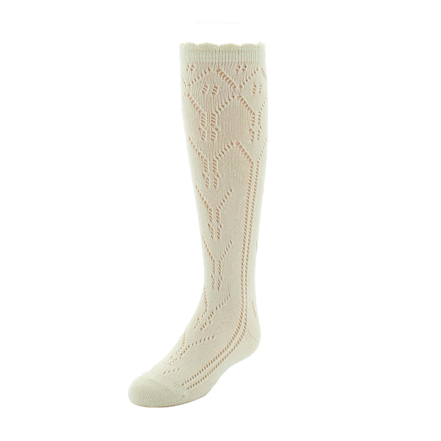 Memoi Diamond Crochet Knee High Sock - MKF 7007