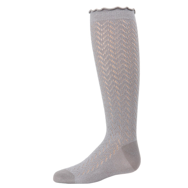 Memoi Open Work Knee High Sock - MKF 7053