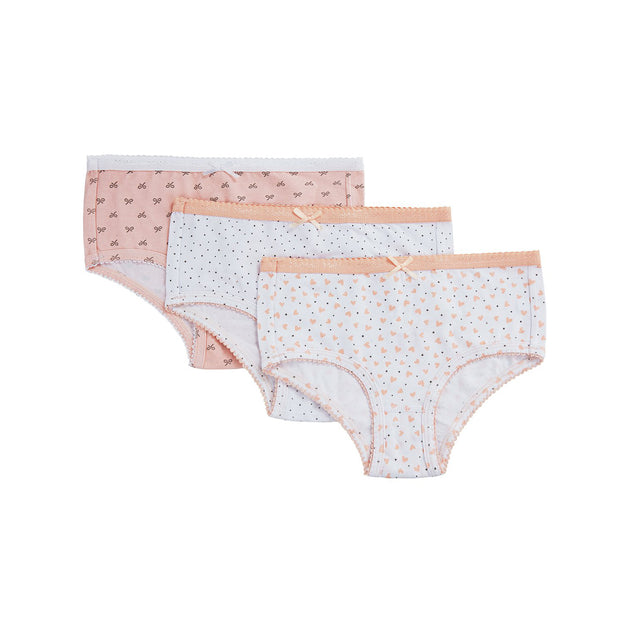 Memoi Girls 3 Pack Briefs Underwear - MKU 1004