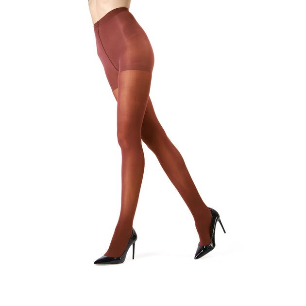 Memoi Perfectly Opaque Control Top Tights - MO 312
