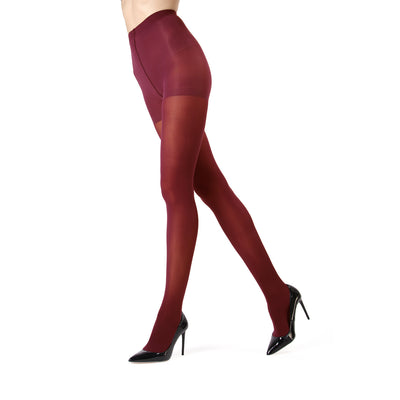 5d1893def4bab Memoi Perfectly Opaque Control Top Tights - MO 312