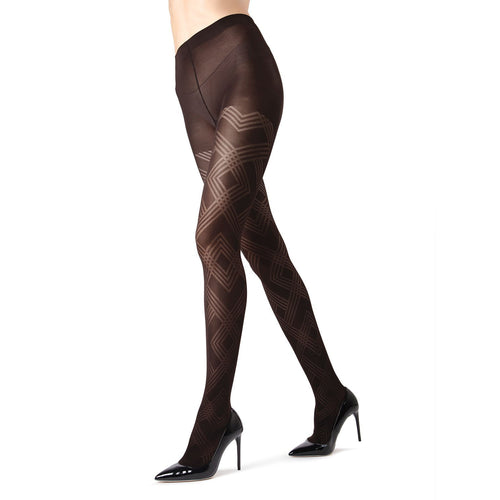 Memoi Geometric Tights - MO 331