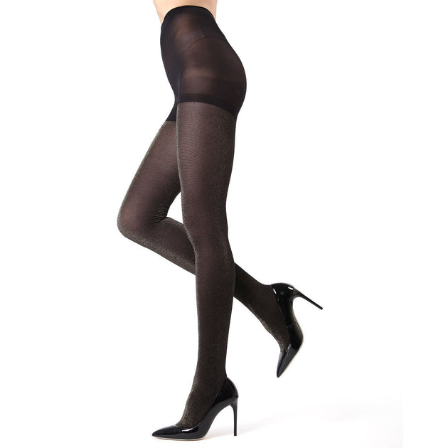 Memoi Glitter Opaque Tights - MO 357