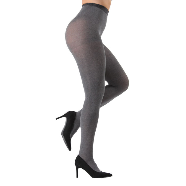 Memoi Heather Microfiber Opaque Control Top Tights - 2 Pack - MO 133