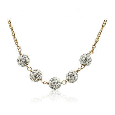 Twin Stars Glitz Blitz Crystal Balls Necklace